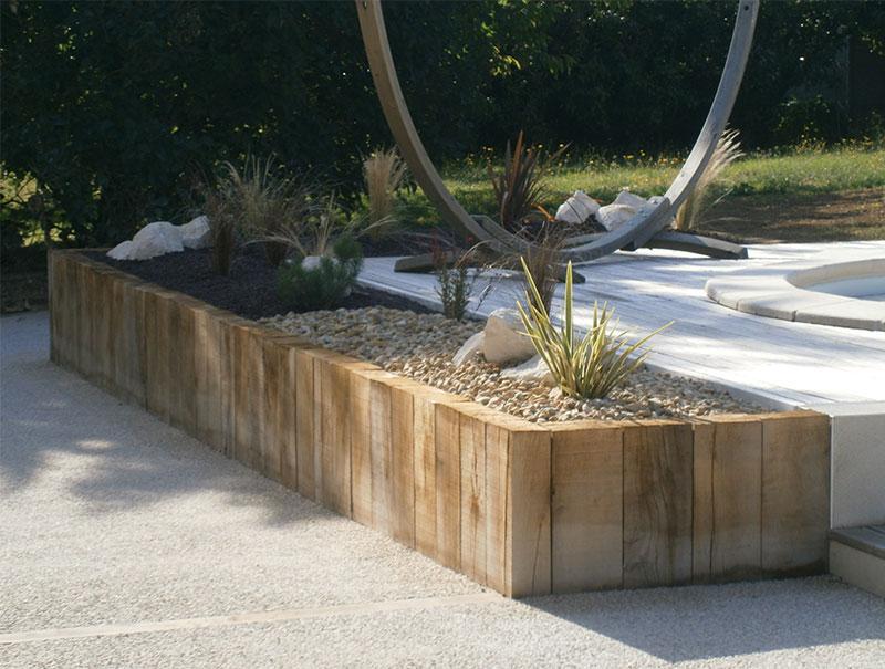 Olivier chagnoleau am nagement et conception de jardin - Traverse en chene ...